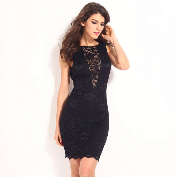 Sexy Fashion Sleeveless Backless Dress 9215048